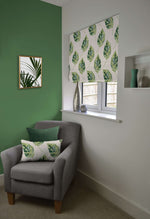 Laden Sie das Bild in den Galerie-Viewer, McAlister Textiles Leaf Forest Green Floral Cotton Print Roman Blinds Roman Blinds