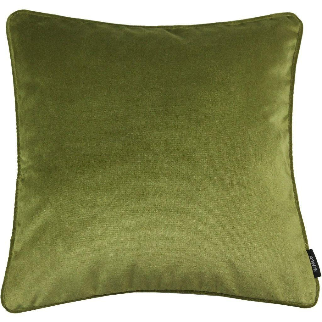 McAlister Textiles Matt Lime Green Velvet Cushion Cushions and Covers Cover Only 43cm x 43cm