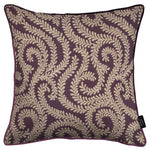 Load image into Gallery viewer, McAlister Textiles Little Leaf Aubergine Purple Pillow Pillow Cover Only 43cm x 43cm