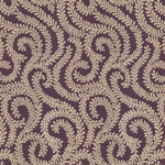 Load image into Gallery viewer, McAlister Textiles Little Leaf Aubergine Purple Fabric Fabrics 1 Metre