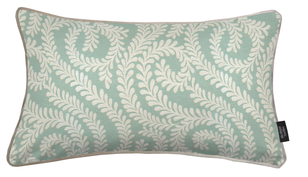 McAlister Textiles Little Leaf Duck Egg Blue Cushion Cushions and Covers Cover Only 50cm x 30cm