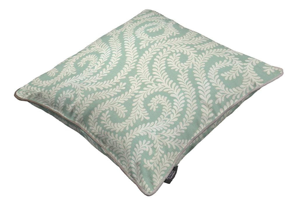 McAlister Textiles Little Leaf Duck Egg Blue Pillow Pillow