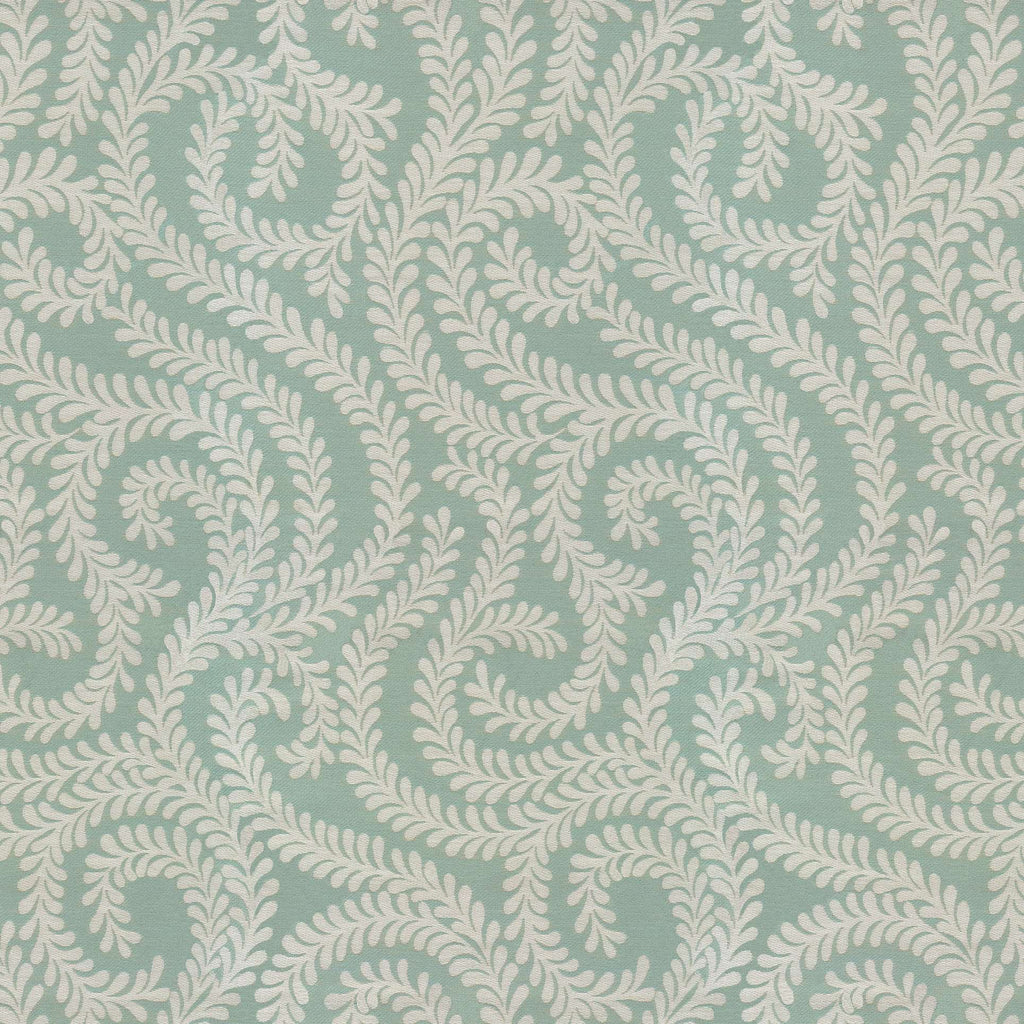 McAlister Textiles Little Leaf Duck Egg Blue Fabric Fabrics 1 Metre