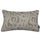 Load image into Gallery viewer, McAlister Textiles Little Leaf Charcoal Grey Pillow Pillow Cover Only 50cm x 30cm