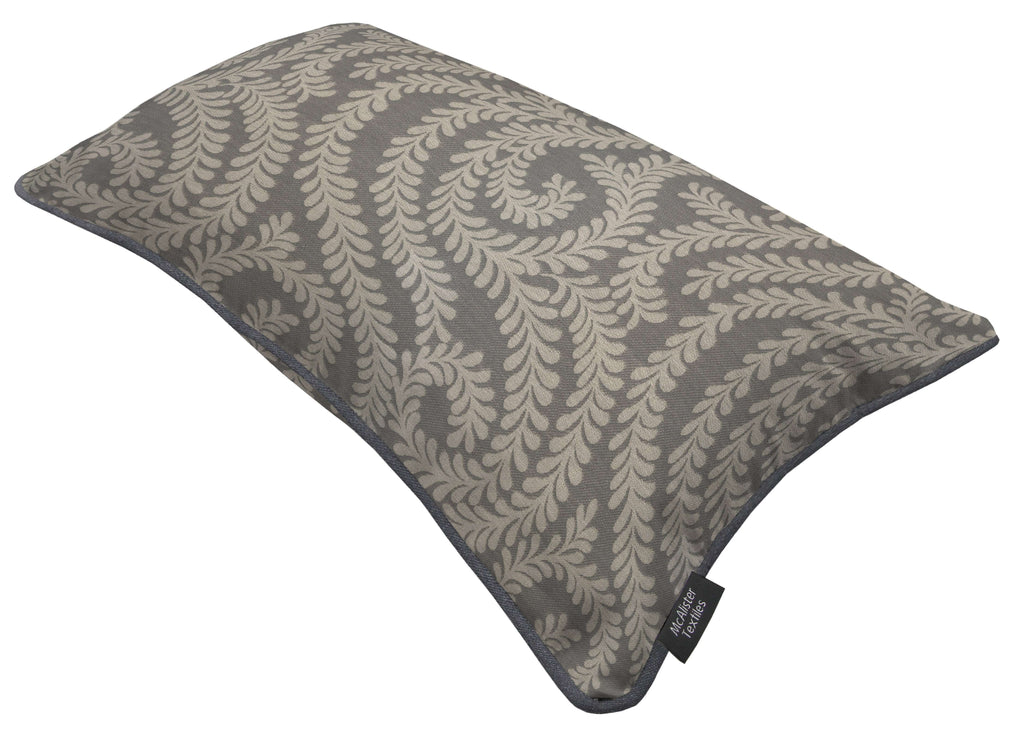 McAlister Textiles Little Leaf Charcoal Grey Pillow Pillow