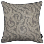 Load image into Gallery viewer, McAlister Textiles Little Leaf Charcoal Grey Pillow Pillow Cover Only 43cm x 43cm