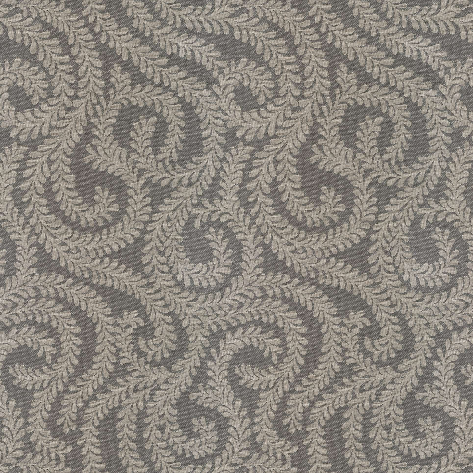 McAlister Textiles Little Leaf Charcoal Grey Fabric Fabrics 1 Metre
