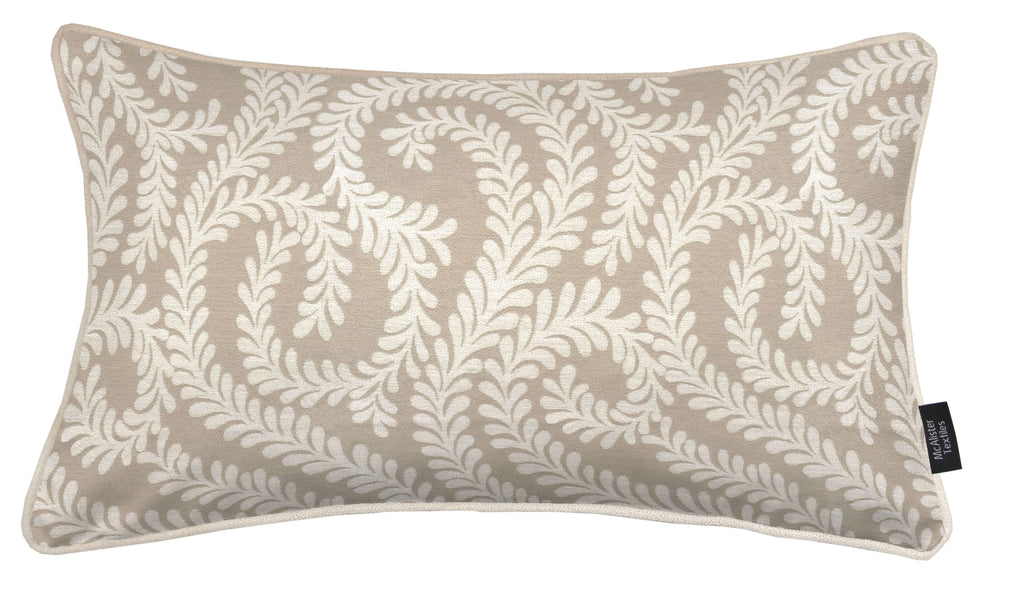 McAlister Textiles Little Leaf Pale Beige Cushion Cushions and Covers Cover Only 50cm x 30cm
