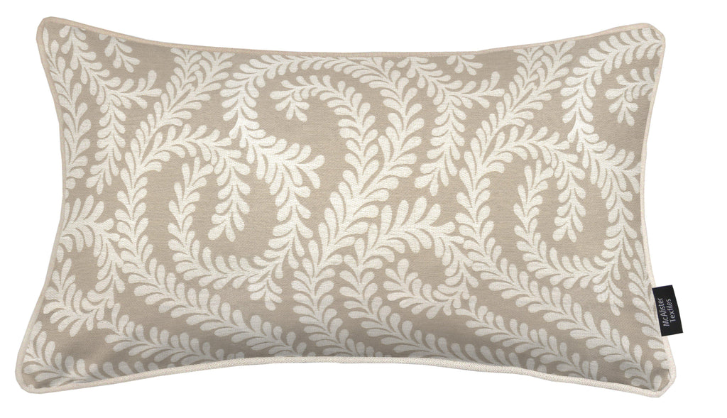 McAlister Textiles Little Leaf Pale Beige Pillow Pillow Cover Only 50cm x 30cm