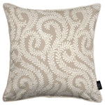 Cargar imagen en el visor de la galería, McAlister Textiles Little Leaf Pale Beige Cushion Cushions and Covers Cover Only 43cm x 43cm