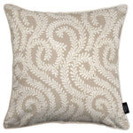 Load image into Gallery viewer, McAlister Textiles Little Leaf Pale Beige Pillow Pillow Cover Only 43cm x 43cm