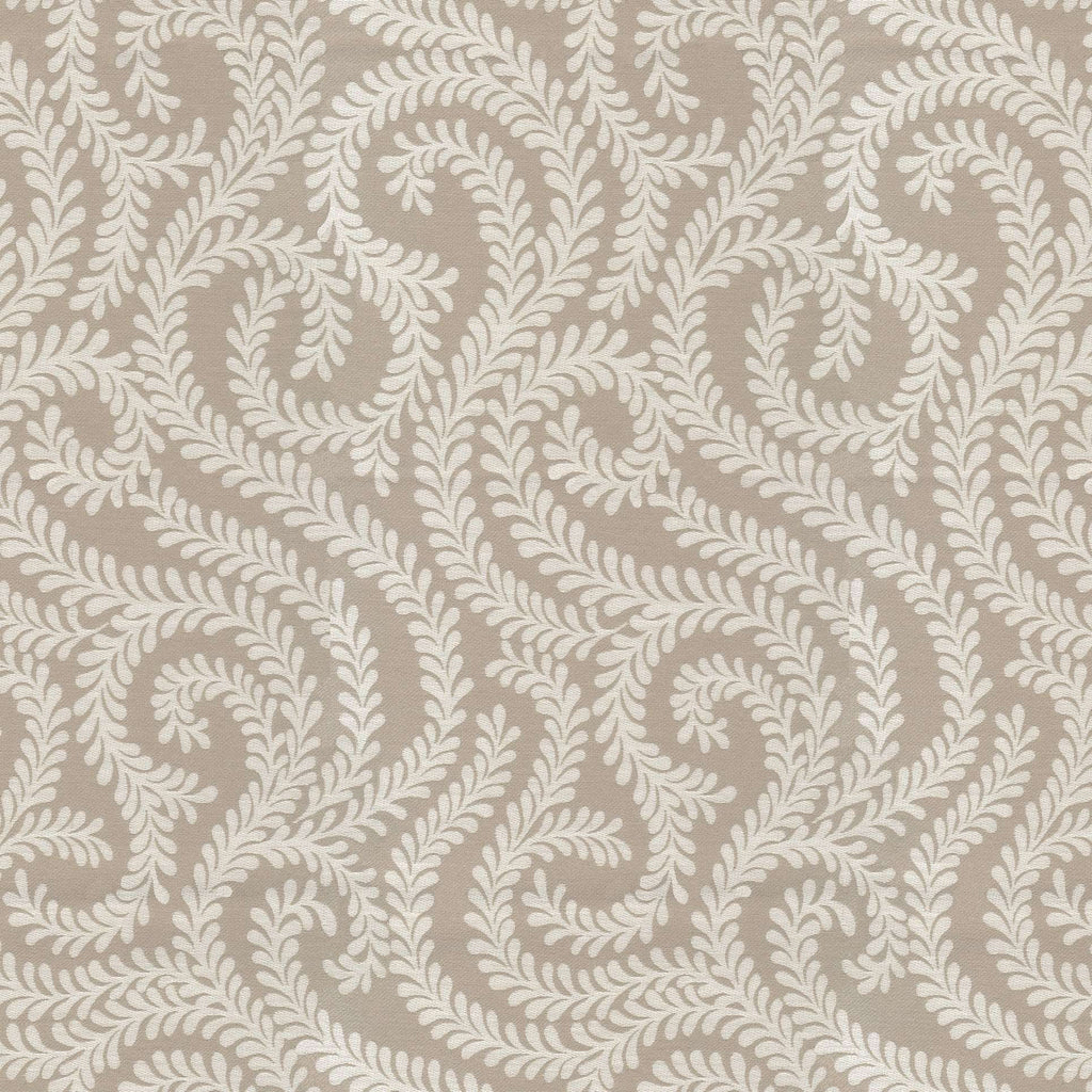McAlister Textiles Little Leaf Pale Beige Throws & Runners Throws and Runners