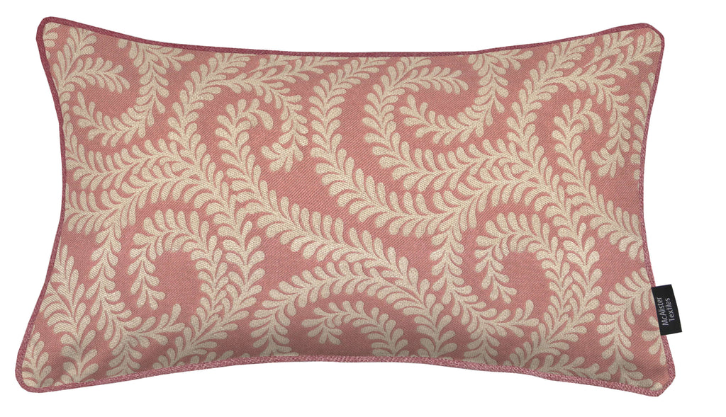 McAlister Textiles Little Leaf Blush Pink Cushion Cushions and Covers Cover Only 50cm x 30cm