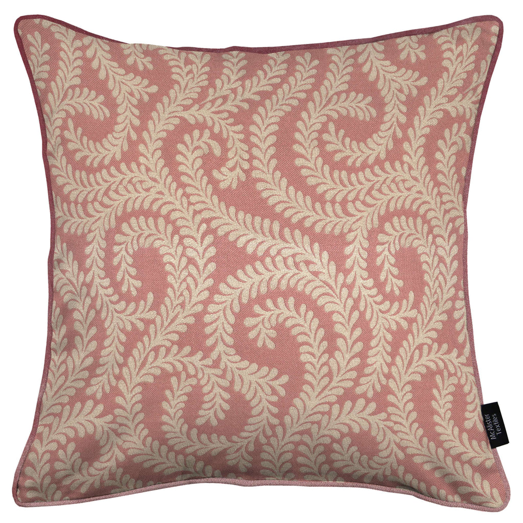 McAlister Textiles Little Leaf Blush Pink Cushion Cushions and Covers Cover Only 43cm x 43cm