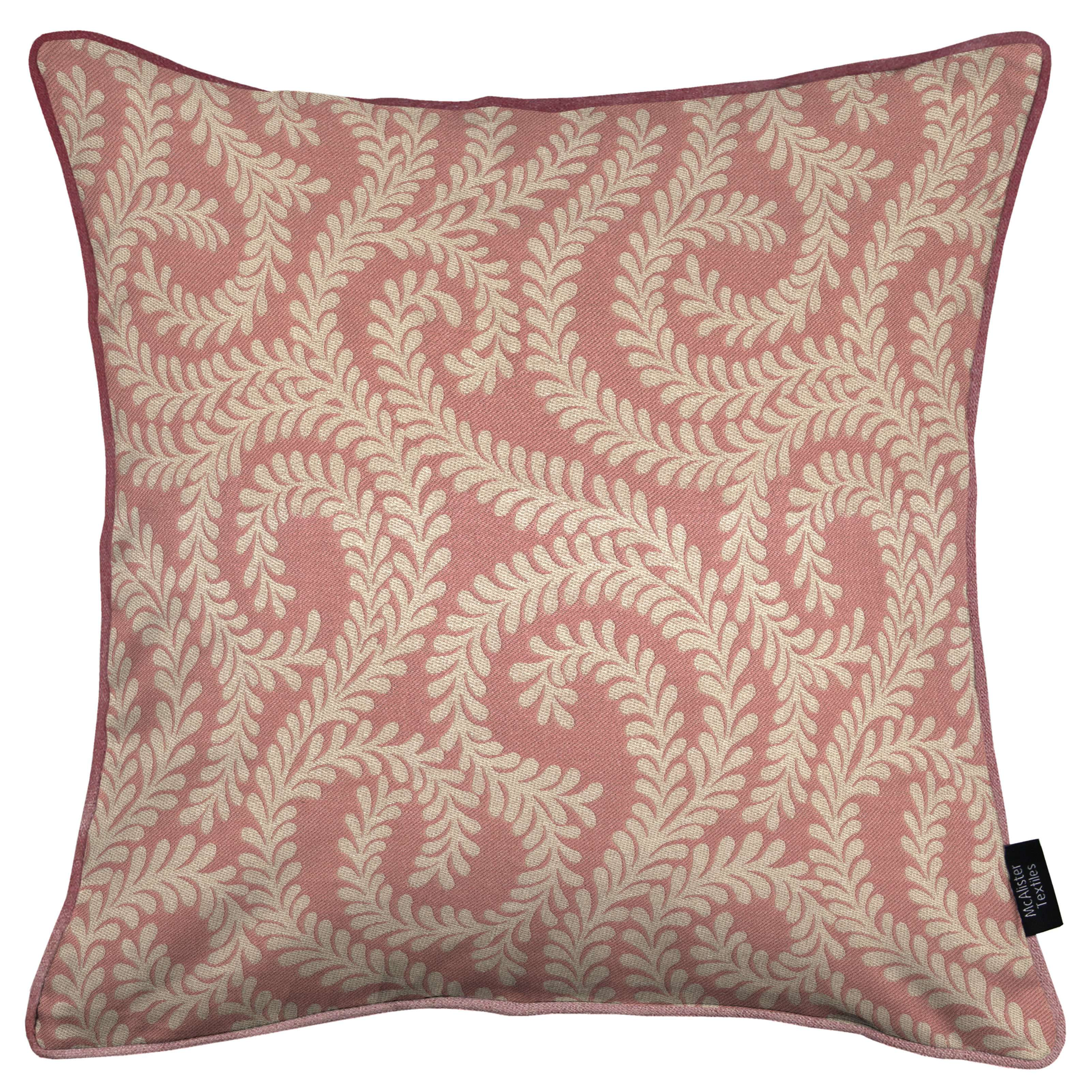 McAlister Textiles Little Leaf Blush Pink Pillow Pillow Cover Only 43cm x 43cm