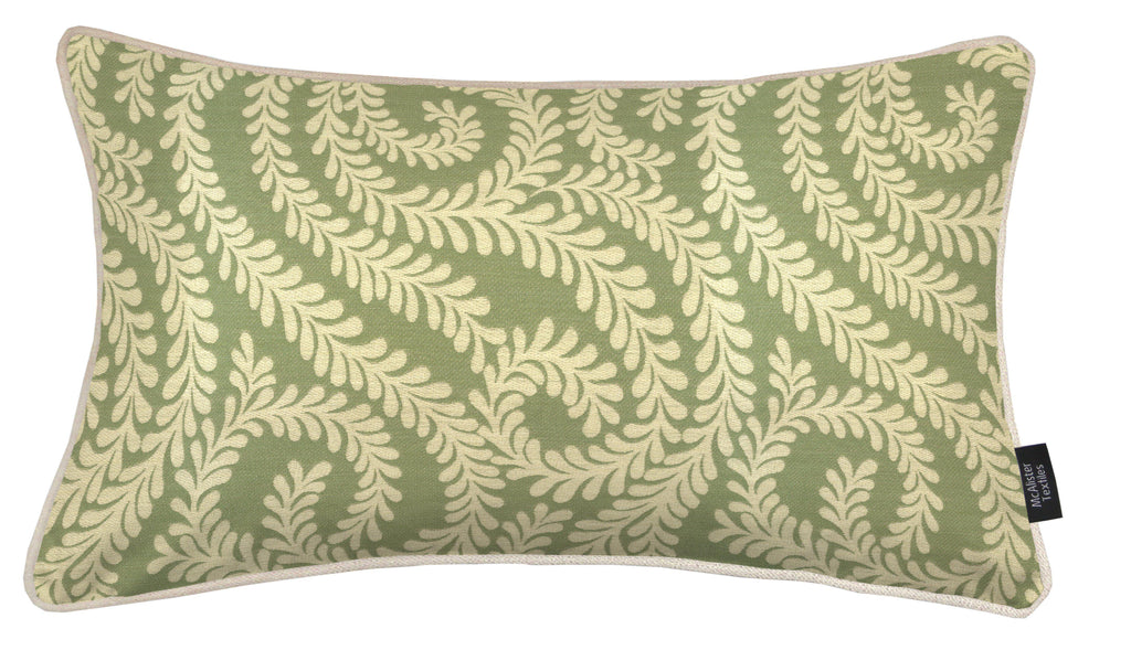 McAlister Textiles Little Leaf Sage Green Pillow Pillow Cover Only 50cm x 30cm