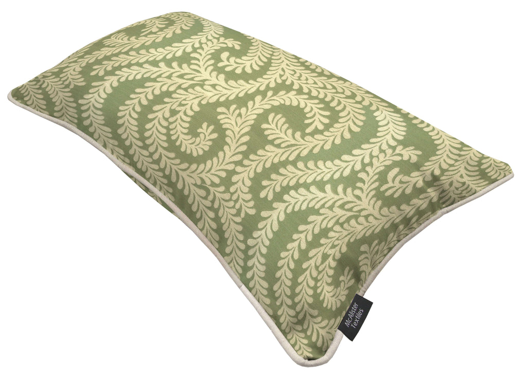 McAlister Textiles Little Leaf Sage Green Cushion Cushions and Covers