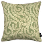 Load image into Gallery viewer, McAlister Textiles Little Leaf Sage Green Cushion Cushions and Covers Cover Only 43cm x 43cm