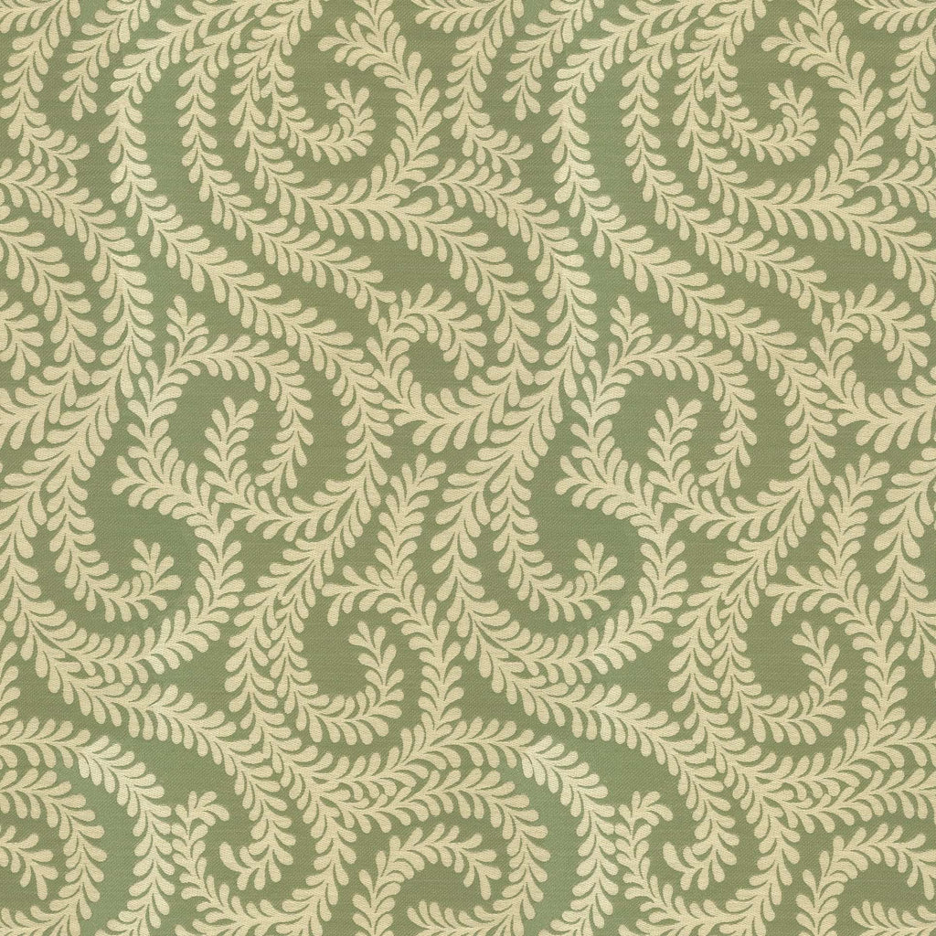 McAlister Textiles Little Leaf Sage Green Fabric Fabrics 1 Metre