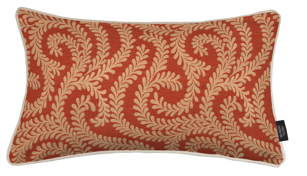 McAlister Textiles Little Leaf Burnt Orange Pillow Pillow Cover Only 50cm x 30cm
