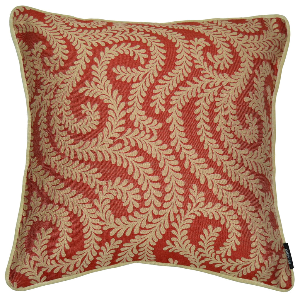 McAlister Textiles Little Leaf Spice Orange Cushion Cushions and Covers Cover Only 43cm x 43cm
