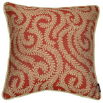 Cargar imagen en el visor de la galería, McAlister Textiles Little Leaf Burnt Orange Cushion Cushions and Covers Cover Only 43cm x 43cm