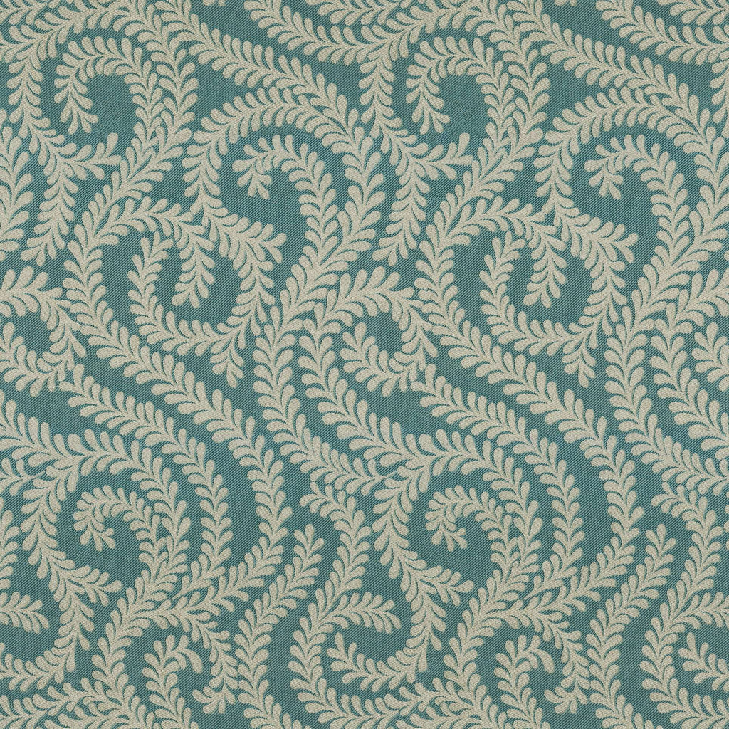 McAlister Textiles Little Leaf Teal Fabric Fabrics 1 Metre