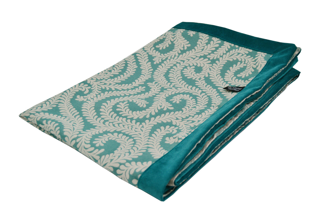 McAlister Textiles Little Leaf Teal Throw Throws and Runners Regular (130cm x 200cm)