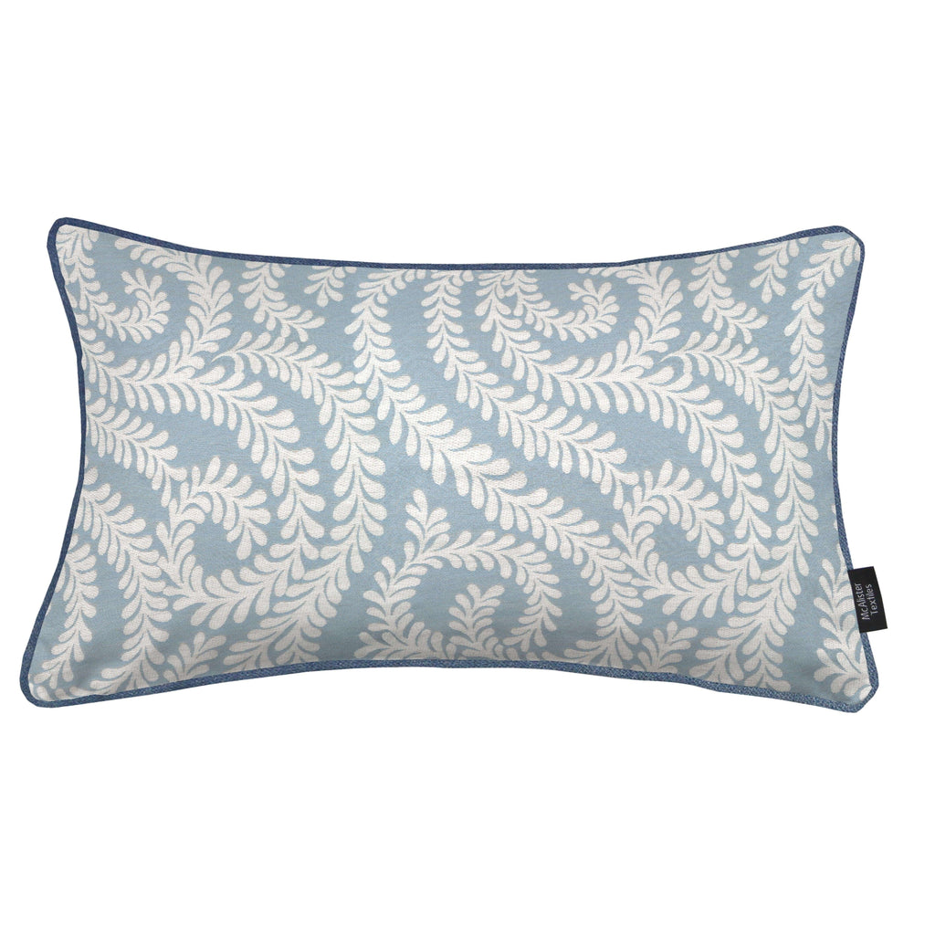McAlister Textiles Little Leaf Wedgewood Blue Pillow Pillow Cover Only 50cm x 30cm