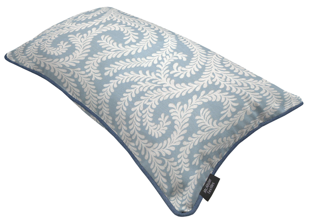 McAlister Textiles Little Leaf Wedgewood Blue Pillow Pillow