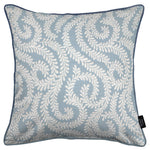 Load image into Gallery viewer, McAlister Textiles Little Leaf Wedgewood Blue Cushion Cushions and Covers Cover Only 43cm x 43cm
