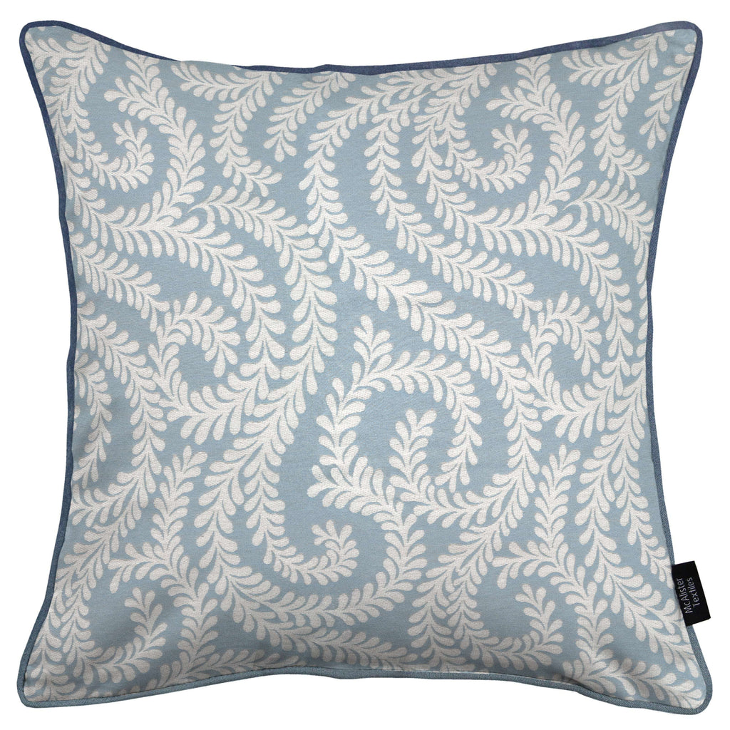 McAlister Textiles Little Leaf Wedgewood Blue Pillow Pillow Cover Only 43cm x 43cm