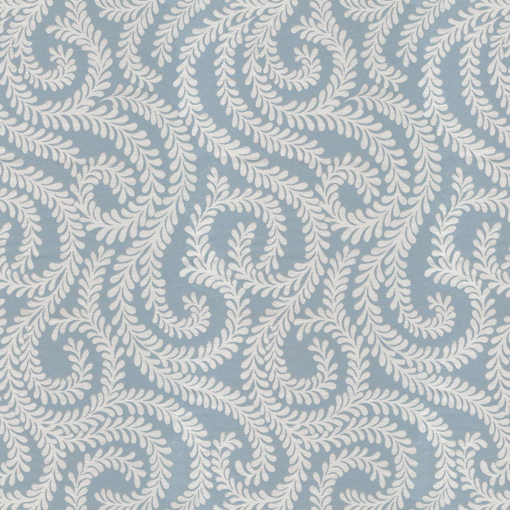McAlister Textiles Little Leaf Wedgewood Blue Fabric Fabrics 1 Metre