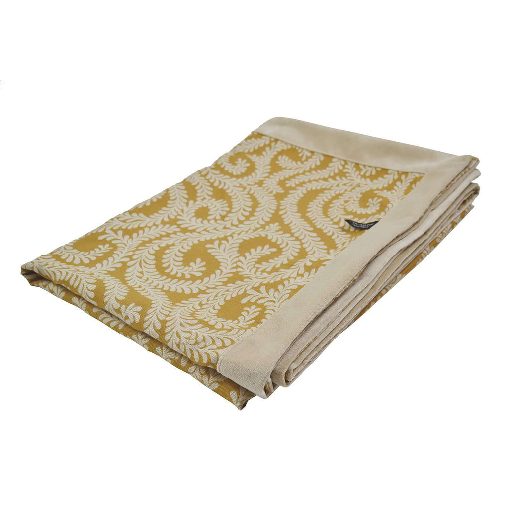 McAlister Textiles Little Leaf Ochre Yellow Throw Throws and Runners