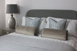 Cargar imagen en el visor de la galería, McAlister Textiles Little Leaf Wedgewood Blue Cushion Cushions and Covers
