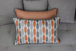 Load image into Gallery viewer, McAlister Textiles Lotta Burnt Orange + Grey Pillow Pillow