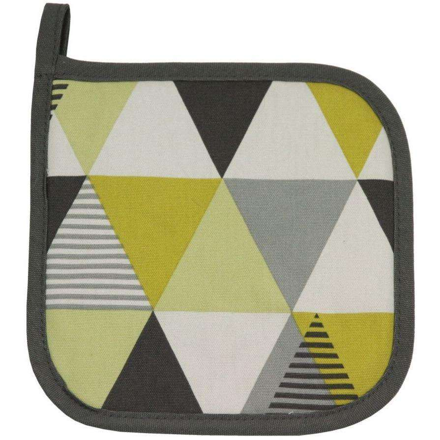 McAlister Textiles Vita Yellow Cotton Print Oven Trivet Kitchen Accessories