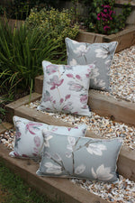 Carica l'immagine nel visualizzatore di Gallery, McAlister Textiles Magnolia Duck Egg Floral Cotton Print Cushions Cushions and Covers