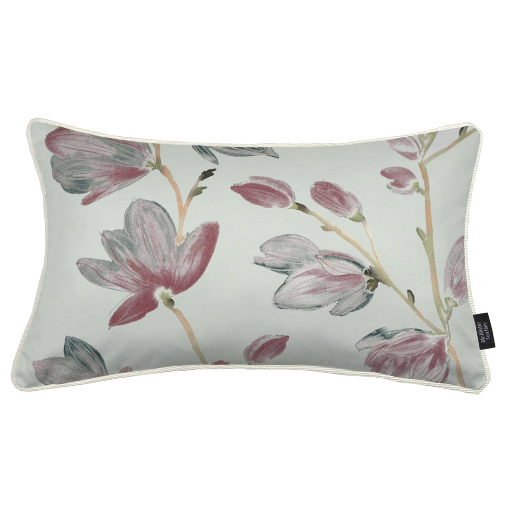 McAlister Textiles Magnolia Rose Floral Cotton Print Pillows Pillow Cover Only 50cm x 30cm