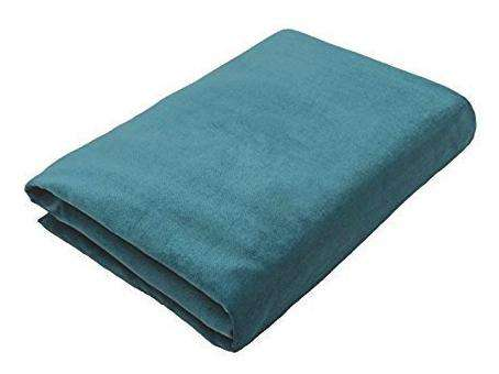 McAlister Textiles Matt Blue Teal Velvet Throw Blankets & Runners Throws and Runners