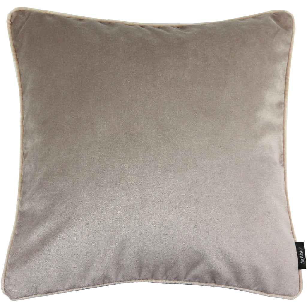 McAlister Textiles Matt Beige Mink Velvet Cushion Cushions and Covers Cover Only 43cm x 43cm