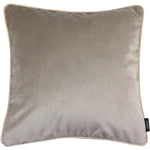 Load image into Gallery viewer, McAlister Textiles Matt Beige Mink Velvet Pillow Pillow Cover Only 43cm x 43cm