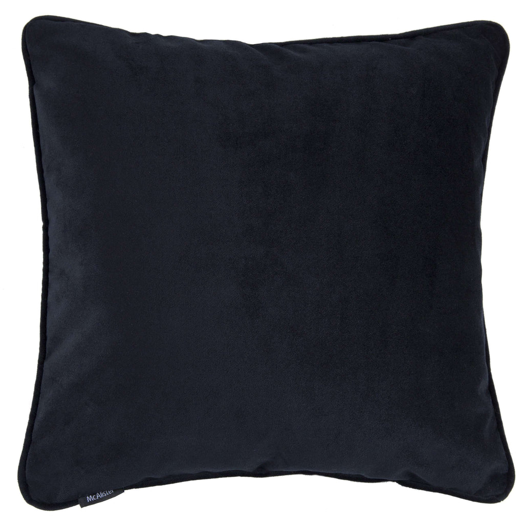 McAlister Textiles Matt Black Velvet Cushion Cushions and Covers Cover Only 43cm x 43cm
