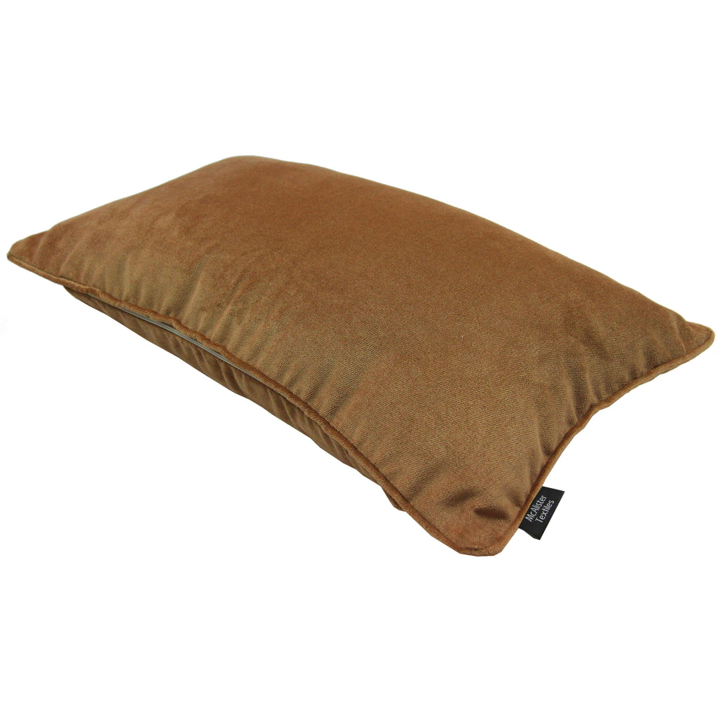 McAlister Textiles Matt Caramel Gold Velvet Cushion Cushions and Covers