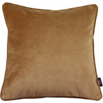 Load image into Gallery viewer, McAlister Textiles Matt Caramel Gold Velvet Cushion Cushions and Covers Cover Only 43cm x 43cm
