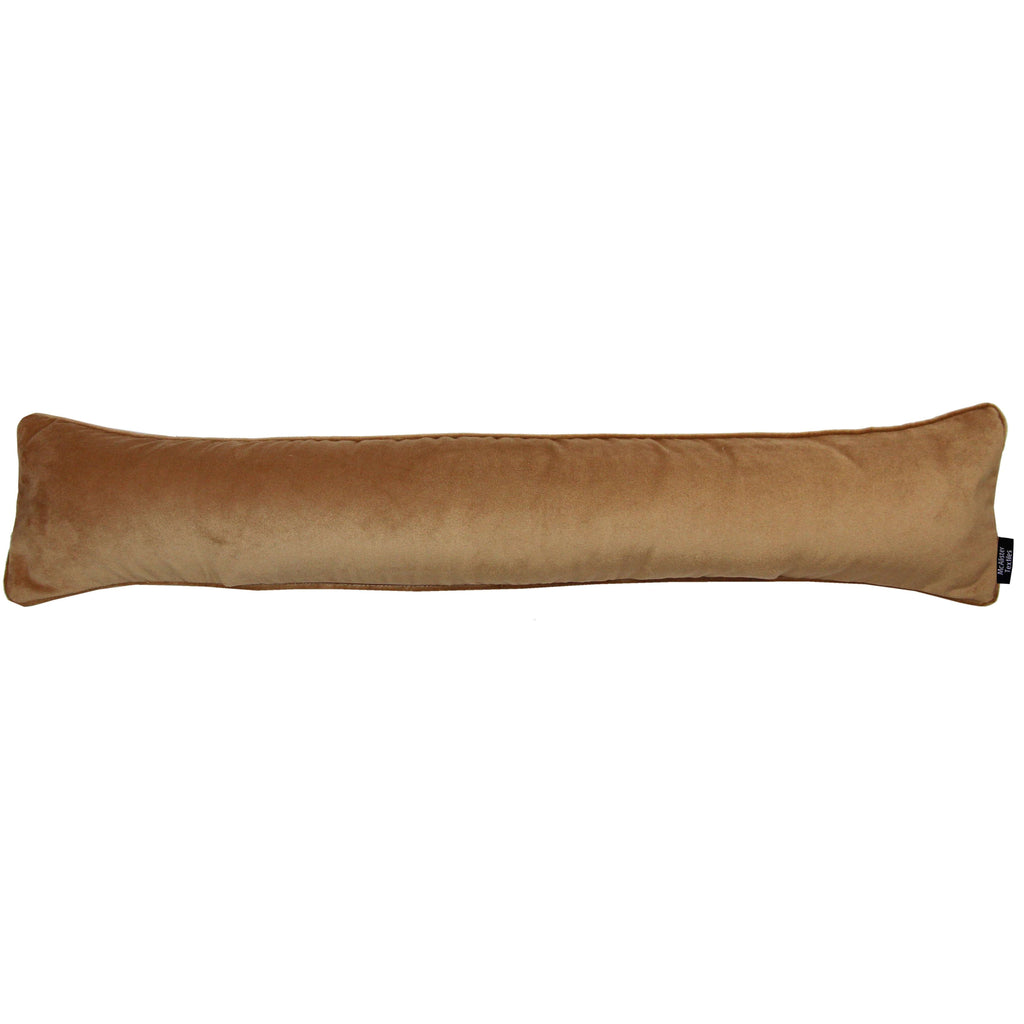 McAlister Textiles Matt Caramel Gold Velvet Draught Excluder Draught Excluders