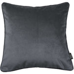 Load image into Gallery viewer, McAlister Textiles Matt Charcoal Grey Velvet Cushion Cushions and Covers Cover Only 43cm x 43cm