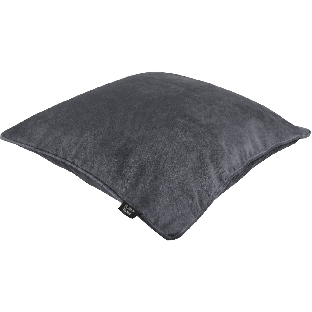 McAlister Textiles Matt Charcoal Grey Velvet Cushion Cushions and Covers