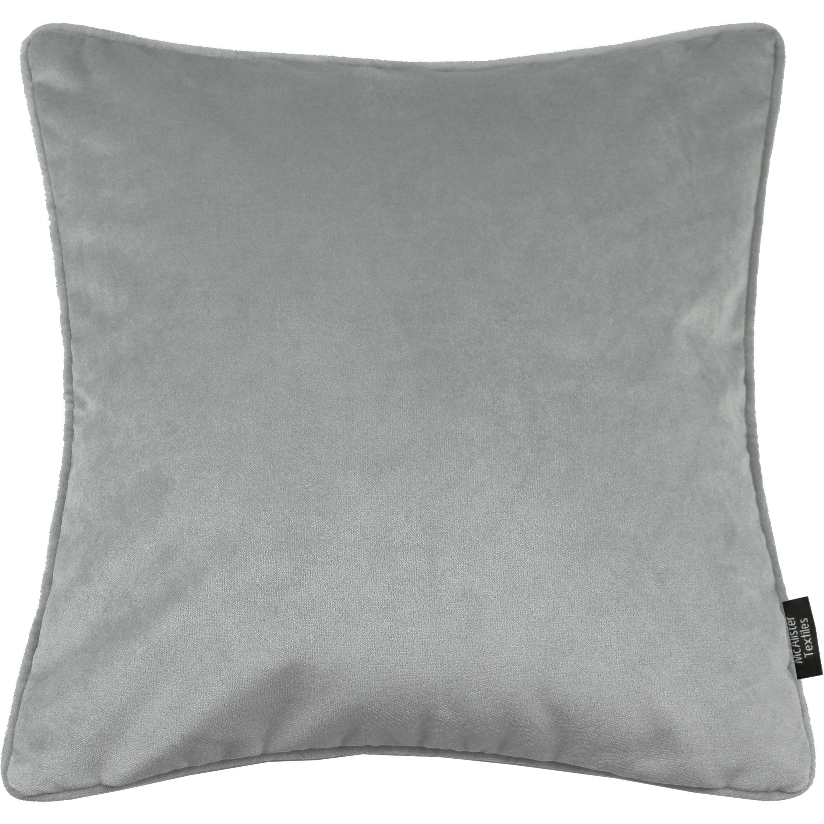McAlister Textiles Matt Dove Grey Velvet Cushion Cushions and Covers Cover Only 43cm x 43cm