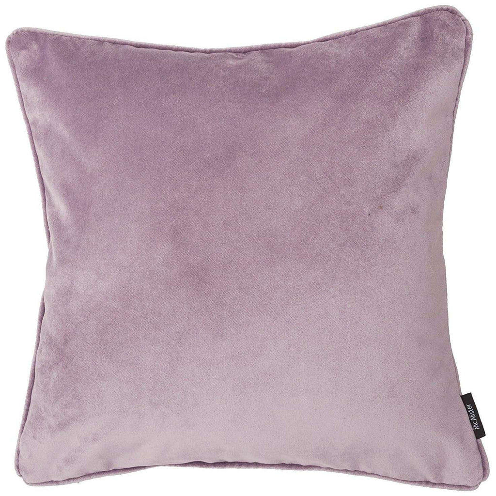 McAlister Textiles Matt Lilac Purple Velvet Cushion Cushions and Covers Cover Only 43cm x 43cm
